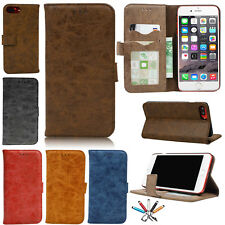 Magnetic Real Leather Flip Stand Case Card Slot Wallet Cover For iPhon
