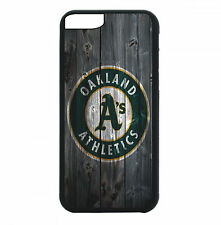 Oakland A's Phone Case For iPhone 7 6S 6 PLUS 5 5S 4 4S Black TPU Rubb