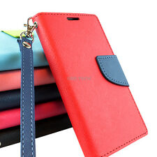For ZTE Quartz Z797C Hybrid PU Leather Flip Folio Wallet Pouch Case W/