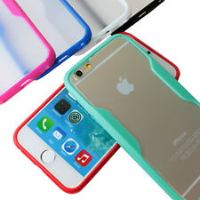 For Apple iPhone 6 / 6S Slim Transparent Clear Hard Gel Hybrid TPU Can