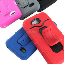 For ZTE Speed N9130 Tough Rugged Impact Hybrid Card Holder Case Cover