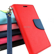 For Nokia Lumia 520 Color Hybrid PU Leather Flip Folio Wallet Pouch Ca