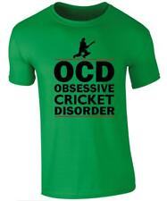 "Mens T-shirt - ""OCD"" Obsessive Compulsive Cricket Disorder"