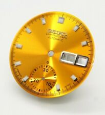 SEIKO dial 6139-6002 6005 6000 yellow gold proof 70m resist blue silver pogue