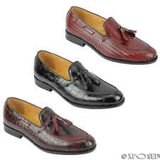 Mens Real Leather Tassel Loafers Vintage Smart Casual Retro MOD Shoes UK Size