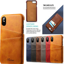 Luxury Slim PU Leather Card Slot Holder Back Case Cover for iPhone 6S