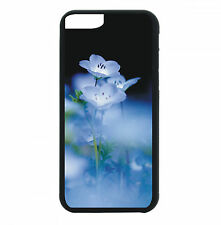 Blue Flowers Phone Case For iPhone 7 6S 6 PLUS 5 5S 4 4S Black TPU Rub