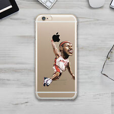LeBron James NBA Art  Rubber TPU Silicone Cover Case Apple Iphone 4s 5