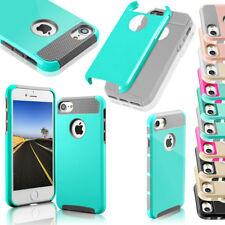 Hybrid Rugged Shockproof Heavy Rubber Armor Case Cover For Apple iPhon