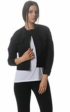 Kit and Ace Ladies Black Cropped Flight Jacket Top UK 8 10 12 14 RRP AUS $310