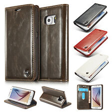 Luxury Leather Wallet Card Holder Flip Case Cover For Samsung Galaxy S