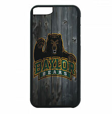 Baylor Bears Phone Case For iPhone 7 6S 6 PLUS 5 5S 4 4S Black TPU Rub