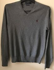 BNWT MENS POLO RALPH LAUREN LONG SLEEVE V NECK PIMA COTTON JUMPER/SWEATER