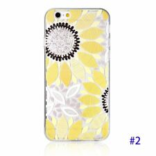 SunFlower Emboss Pattern Clear TPU Textured Case for iPhone 6/6S Plus