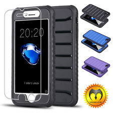 For iPhone 7/Plus Shockproof Protective TPU Bumper Case Cover+Screen P