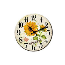34cm Country Style Sunflower Wall Mounted Clock Fashion Personality Clock