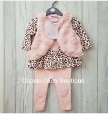 Baby Girls Lovely Pink 3 Piece Oufit - Supersoft Waistcoat ☆