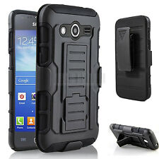 Rugged Rubber Hybrid Case Hard Cover Holster For Samsung Galaxy Avant