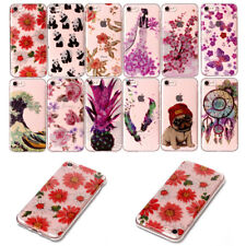 Lovely Pattern Thin Crystal Rubber Back Rugged Case For iPhone 6 6s 7