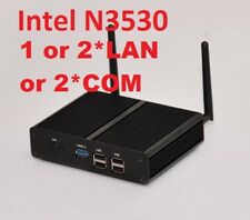 Intel N3530 4G/128G Mini PC Fanless RJ45 LAN WiFi HDMI VGA Network Firewall