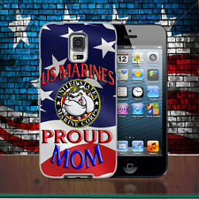 United States Marines Proud Mom Phone Case Samsung Galaxy 5 S6 S7 S8 S