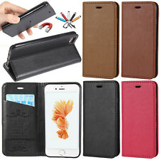Deluxe Magnetic Leather Card Slot Wallet Case Stand Cover For iPhone 6