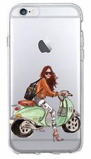 iPhone Case Cover-TPU Hard Cover Skin thin : 5,5S,SE,6,6S,7- GIRL ON M