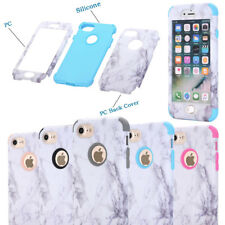 Marble Pattern Hard Bumper Dual Shockproof Case Cover For iPhone SE 6