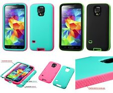 Samsung Galaxy S5 Soft Rubber Rugged Hybrid Hard Cover Case Glow-in-th