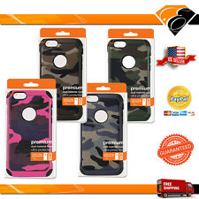 Reiko Apple iPhone 6 Rugged Camouflage Pattern Dual Layer Hybrid Case