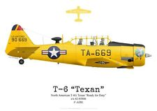 "Print North American T-6G Texan ""Ready for Duty"", F-AZBL (by G. Marie)"