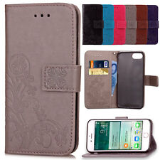 Pattern PU Leather Wallet Flip Phone Case Stand Cover For Apple iPhone