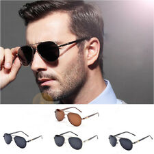 Women/Men Polarized Vintage Designer Sunglasses Metal Frame Retro Eyewear CHR