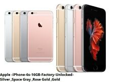 Apple iPhone 6s - 16GB GSM Unlocked Smartphone AB+ -Gold Silver Rose Gold Gray
