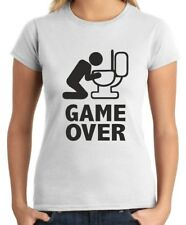 T-shirt donna BEER0060 Game over puke toilet hangover fun Happiness