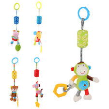 Baby Toy Plush Doll Infant Rattle Ring Bell Crib Bed Hanging Animal Toy Teether