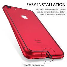 For Apple iphone 8 Edition Case Hybrid Metal+Silicone Aluminum Shockproof Bumper