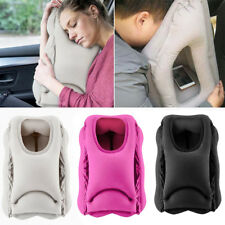 1 x Inflatable Head Neck Suppoort Pillow for Office Nap Airplane Train Trip Rest