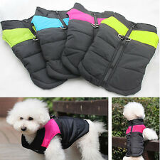 Pet Dog Puppy Jacket Winter Coat Quilted Padded Puffer Insulated Hoodie Clothes