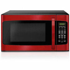 Hamilton Beach 1.1 CU FT Microwave Oven 1000W Kitchen LED Display Stainless Red