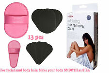 13pcs Hair Removal Exfoliating Pads For Facial Hair Smooth Skin Face Legs Arms