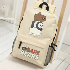 Anime We Bare Bears Cute Teenngers Backpack School Bookbag Travel Shoulder Bag