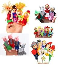 Kuhu Creations® Supreme Wooden Finger Puppets Baby Story Telling Toys.