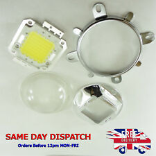 20W Cold or Warm White LED Bulb + 58mm Glass Lens, Reflector and Bracket Holder