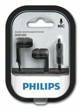Philips SHE1405BK/9 In Ear Headphones Earphones Headset with Mic (Black )