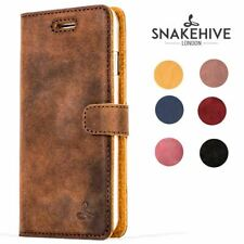 Snakehive® Apple iPhone 7 Vintage Leather Folio Wallet Phone Case w/Card Slots