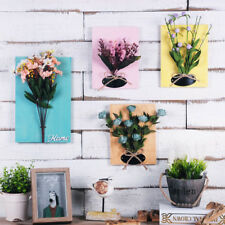 Artificial Flower Wall Mounted Flower Frame Plaque Home Wall Picture Poster