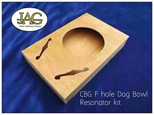 Cigar Box project guitar body. DIY make your own. F Dog Bowl  type. CB005