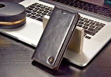 Luxury Genuine Leather Wallet Flip Case  Protective Cover For iPhone 7