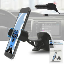 Heavy Duty Windshield Car Mount Holder & Charger for Nokia Asha 302